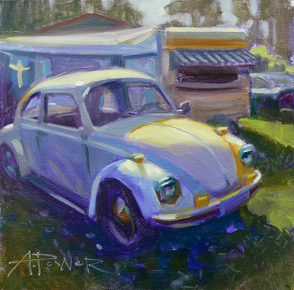 """""""Car Sketching Day 2 of 30 - Before the Dance"""" original fine art by Anette Power"""
