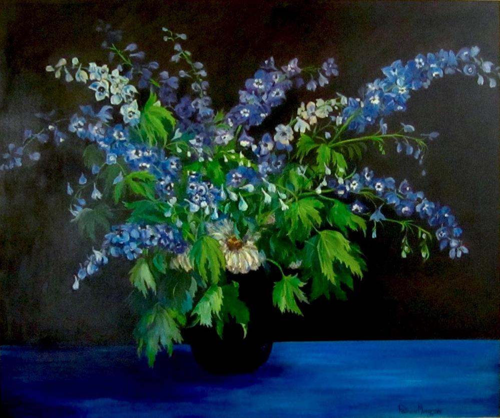 """Delphiniums"" original fine art by Patricia Musgrave"
