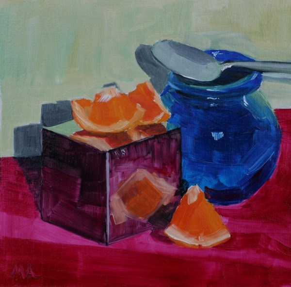 """Spoonful of Orange"" original fine art by Aniko Makay"