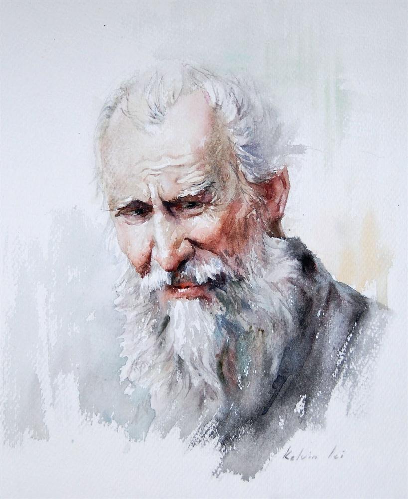 """""""Portrait Study"""" original fine art by Kelvin Lei"""
