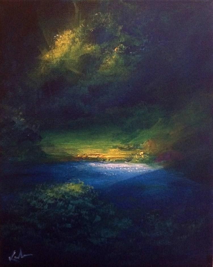 """Of Softer Hours"" original fine art by David Kuhn"