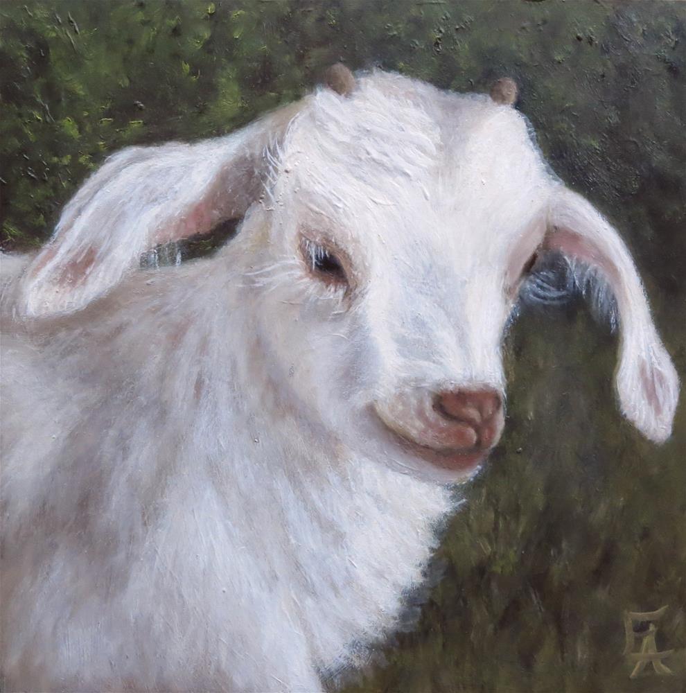 """Garuda Aviary Fundraiser - Wendy the Baby Goat"" original fine art by Elizabeth Elgin"