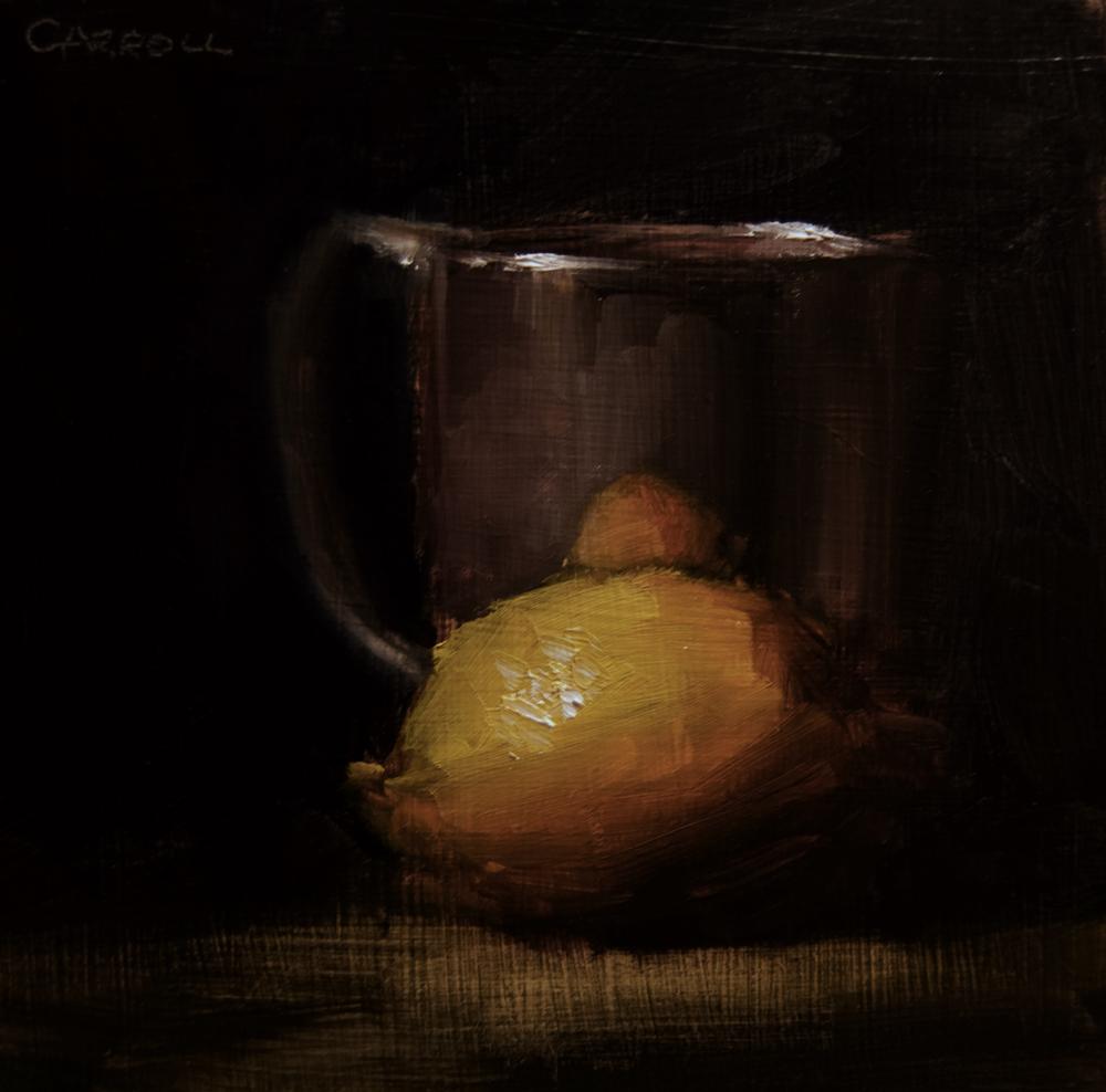 """Lemon and Cup"" original fine art by Neil Carroll"