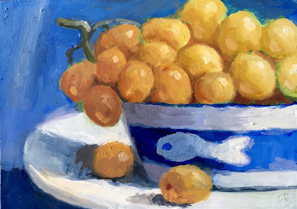 """056 Grapes,"" original fine art by Fred Bell"