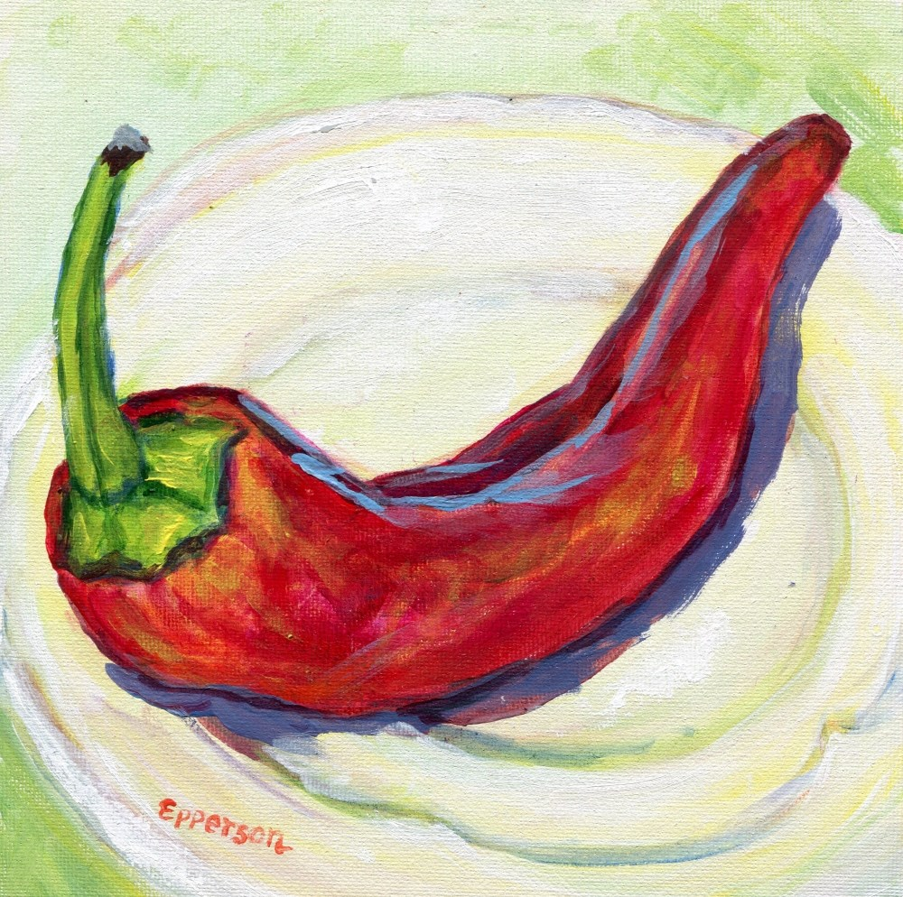 """Reclining Pepper"" original fine art by Stanley Epperson"