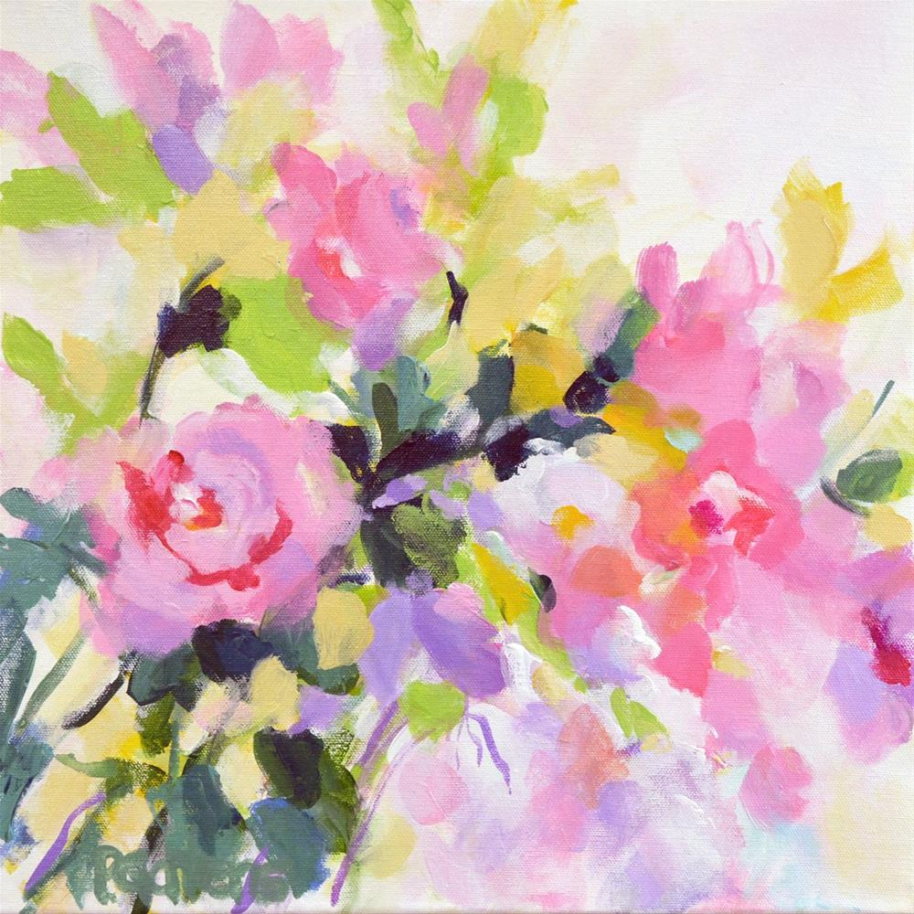 """Wild Rose Garden"" original fine art by Pamela Gatens"