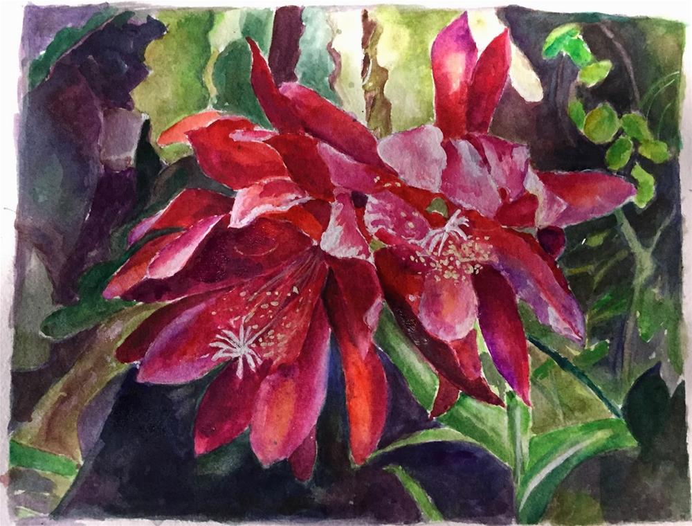 """807 Orchid Cactus"" original fine art by Diane Campion"