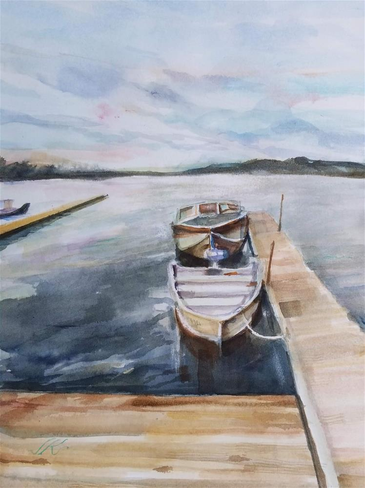 """Raquette Lake, NY"" original fine art by Jean Krueger"