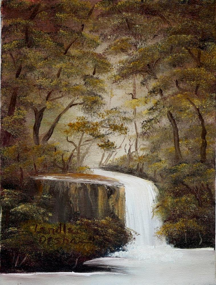 """""""Waterfall"""" original fine art by Lendel Holmes"""