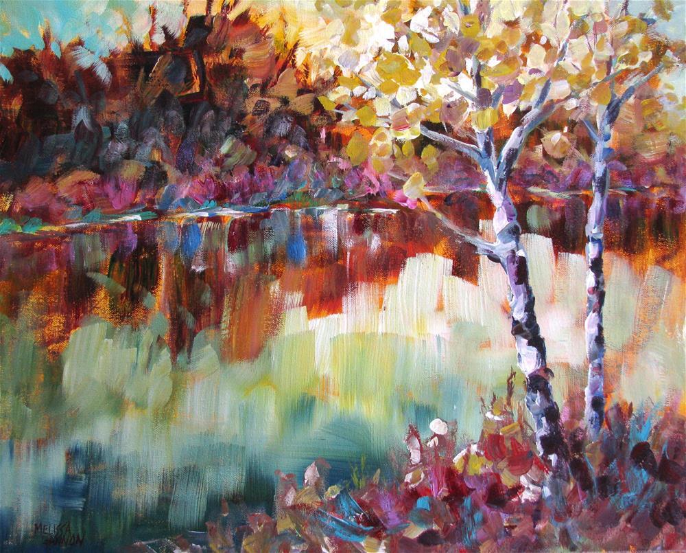 """Reflecting Moment"" original fine art by Melissa Gannon"