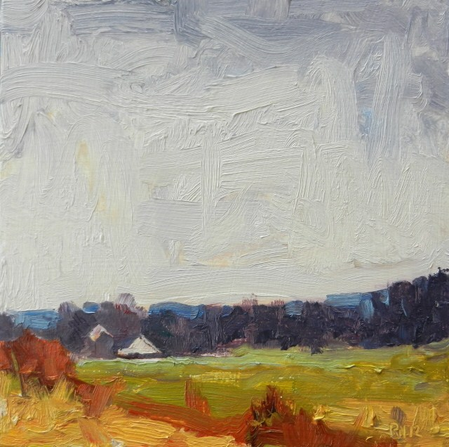 """""""Earth and Sky plein air landscape demo painting by Robin Weiss"""" original fine art by Robin Weiss"""