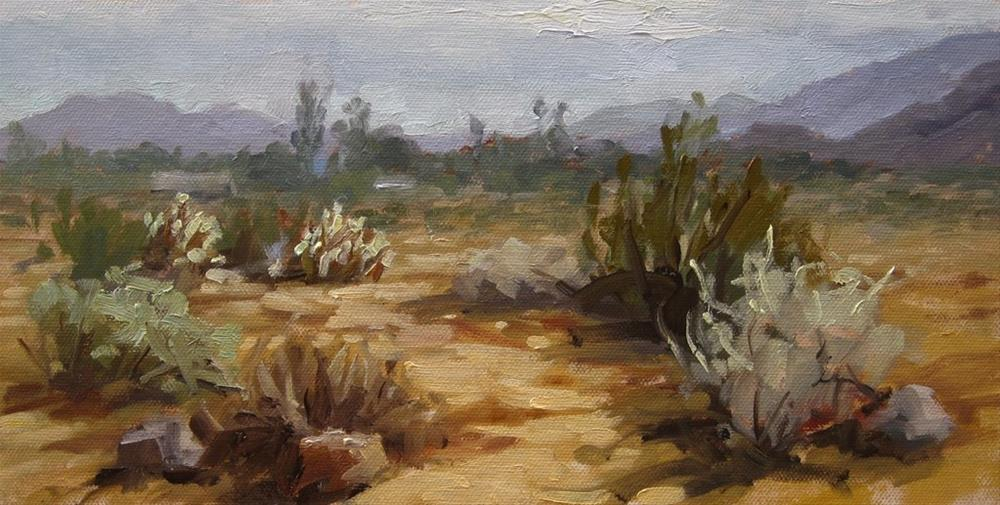 """Desert Scene"" original fine art by Karen Werner"
