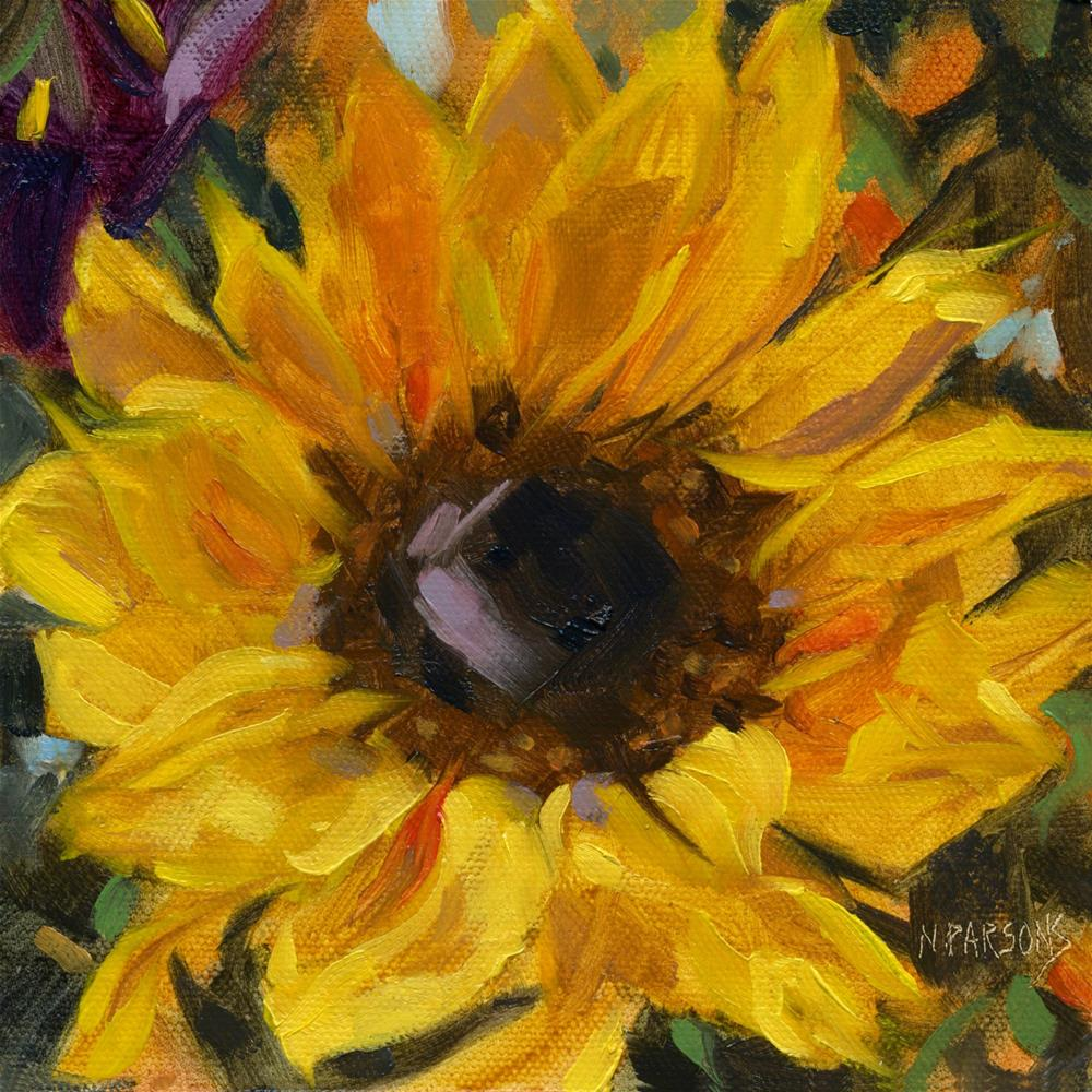 """SOLD- Sunflower Power"" original fine art by Nancy Parsons"