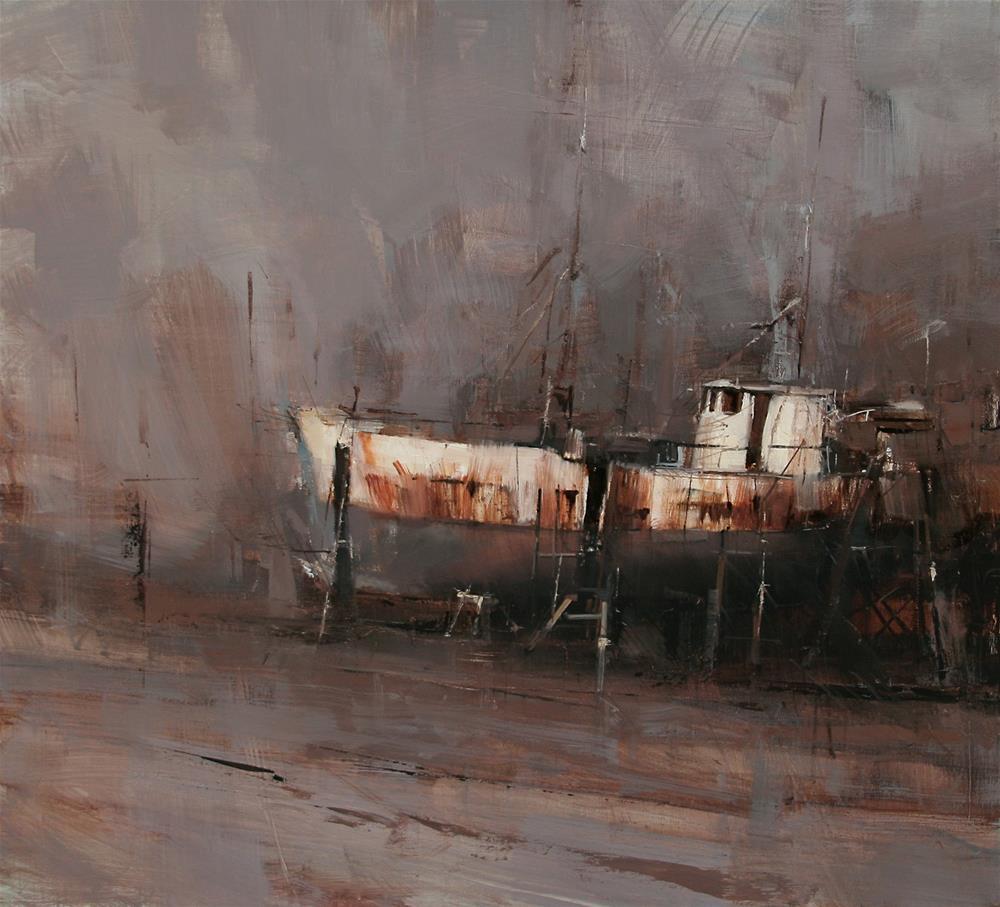 """Through Barren Wastes"" original fine art by Tibor Nagy"