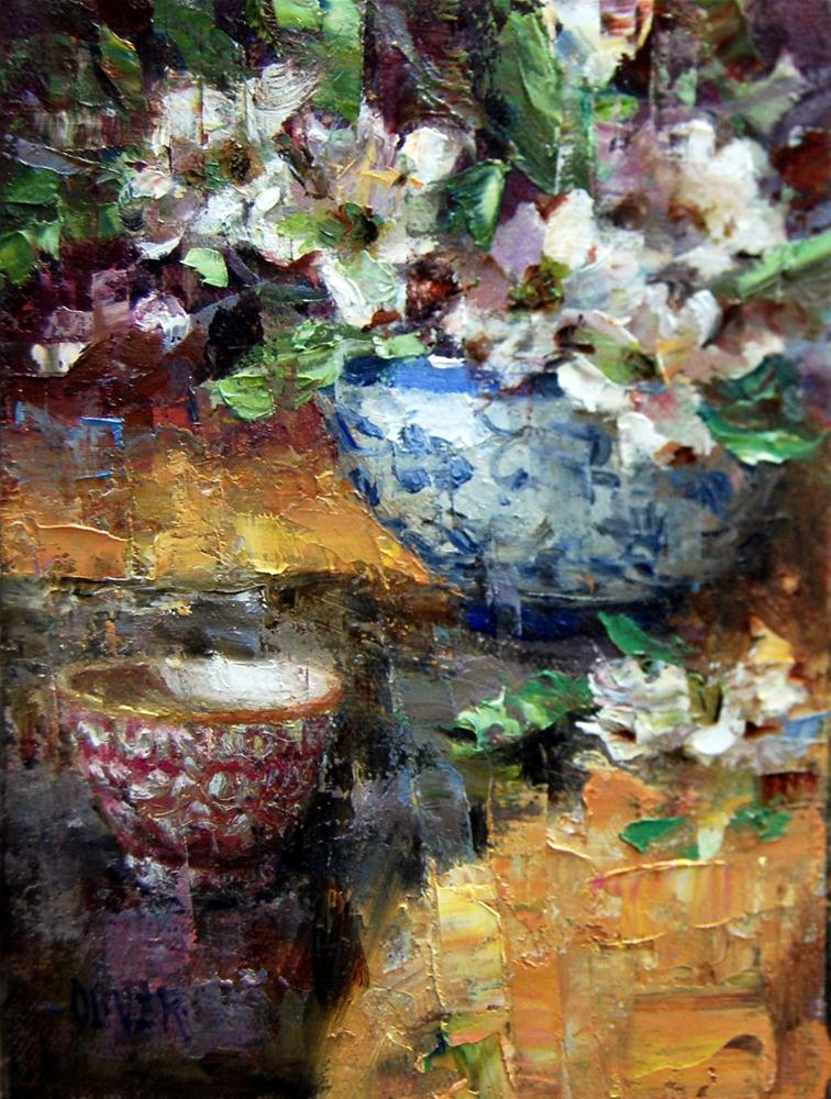 """Dogwood and Porcelain."" original fine art by Julie Ford Oliver"