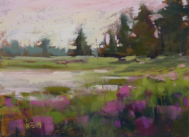 """A Great Way to Tone Paper for Pastel Painting"" original fine art by Karen Margulis"