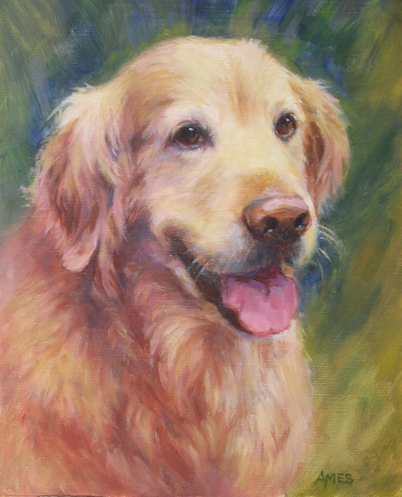 """Sweet Golden"" original fine art by Debra Ames"