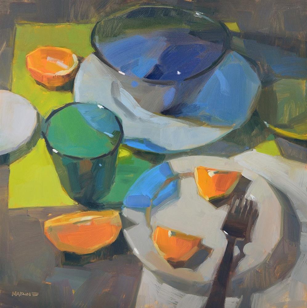 """Green Placemat"" original fine art by Carol Marine"
