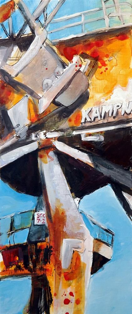 """""""2518 Crane 06"""" original fine art by Dietmar Stiller"""