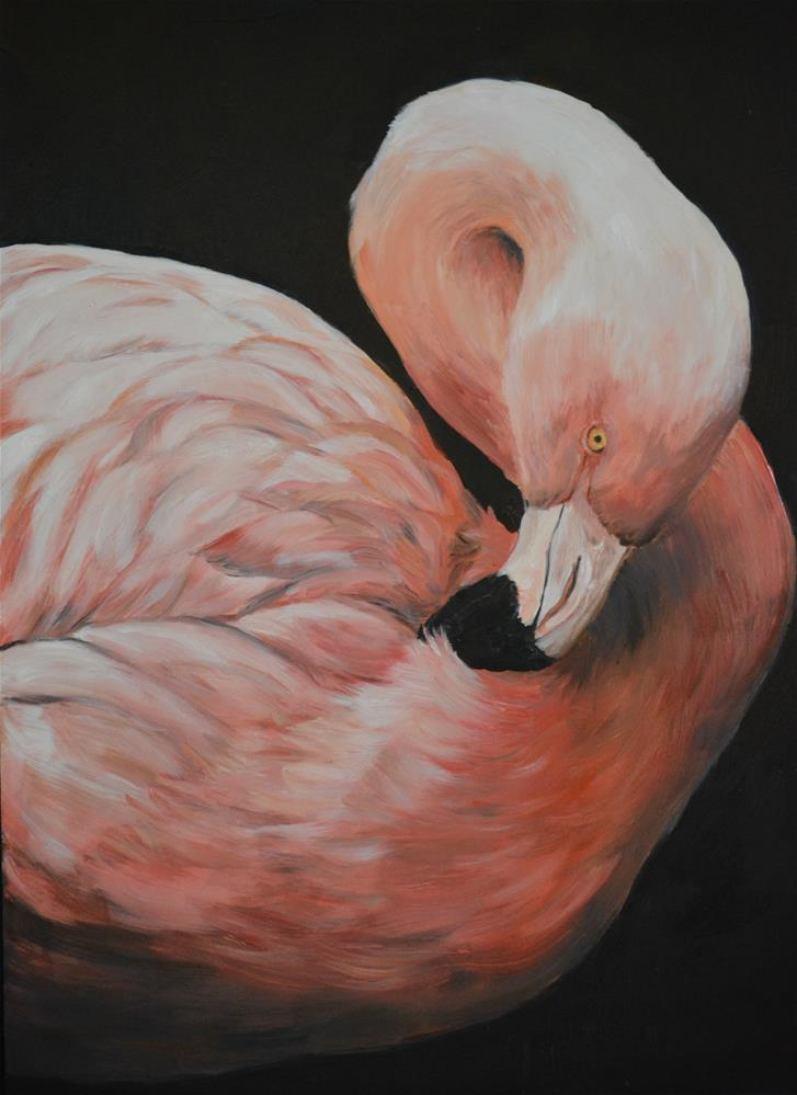 """Flamingo"" original fine art by Charlotte Yealey"