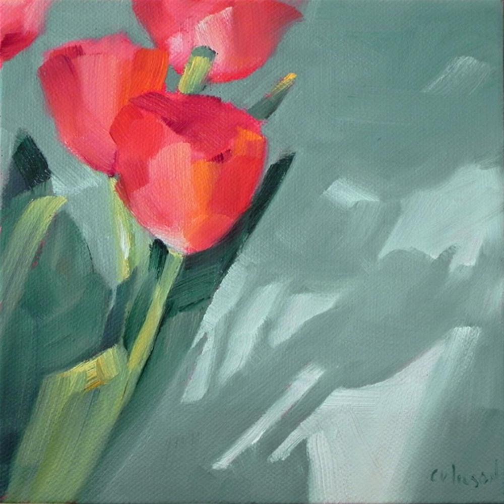 """Tulips Shadow"" original fine art by Cheryl Wilson"