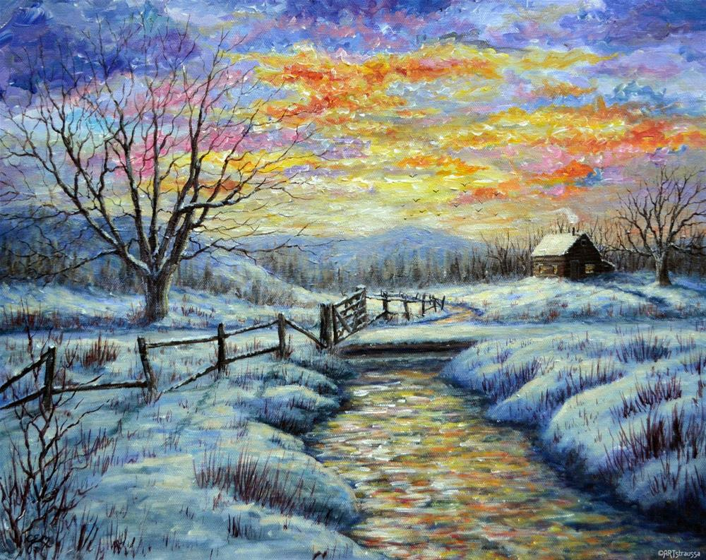 """Winter Retreat"" original fine art by Gloria Ester"