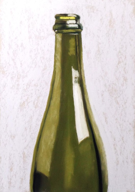 """Painting glass video demo and wine bottle"" original fine art by Ria Hills"
