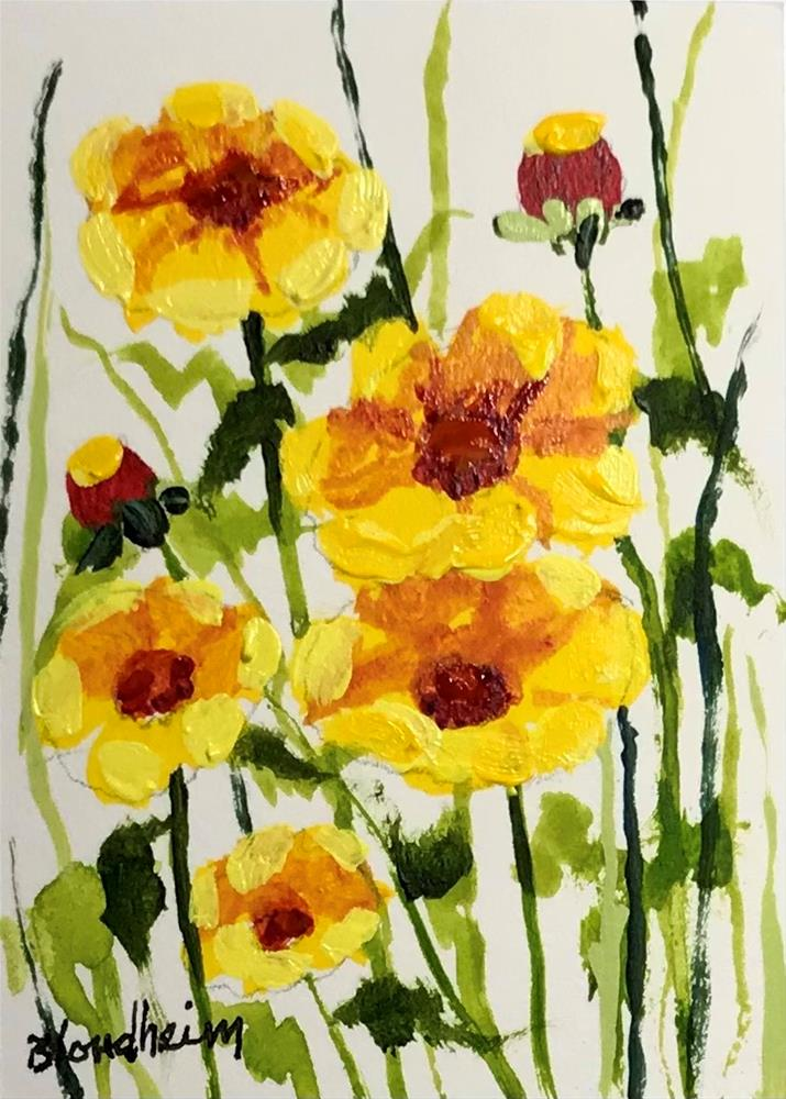 """Wildflowers"" original fine art by Linda Blondheim"