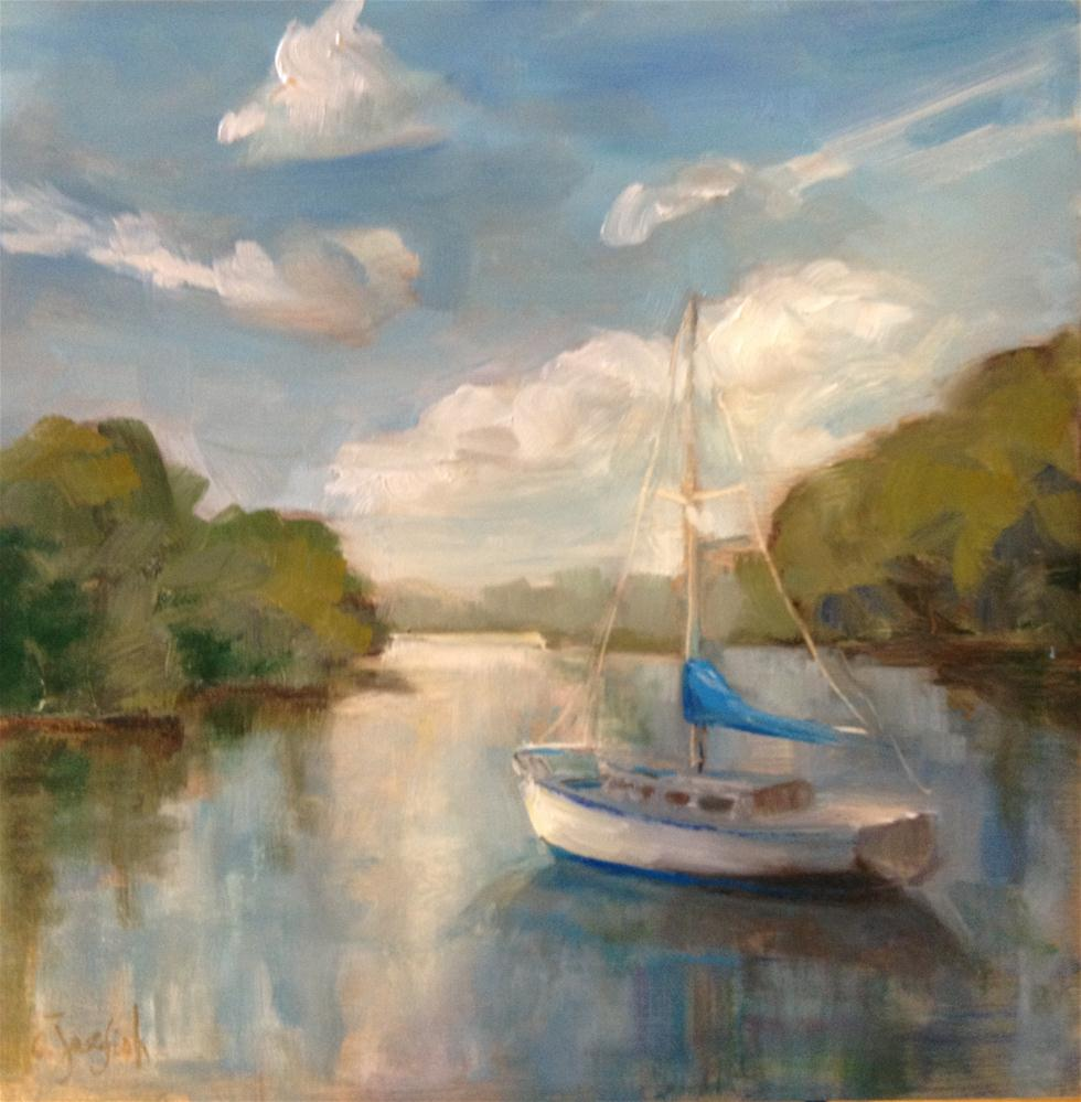 """Sailboat"" original fine art by Carol Josefiak"