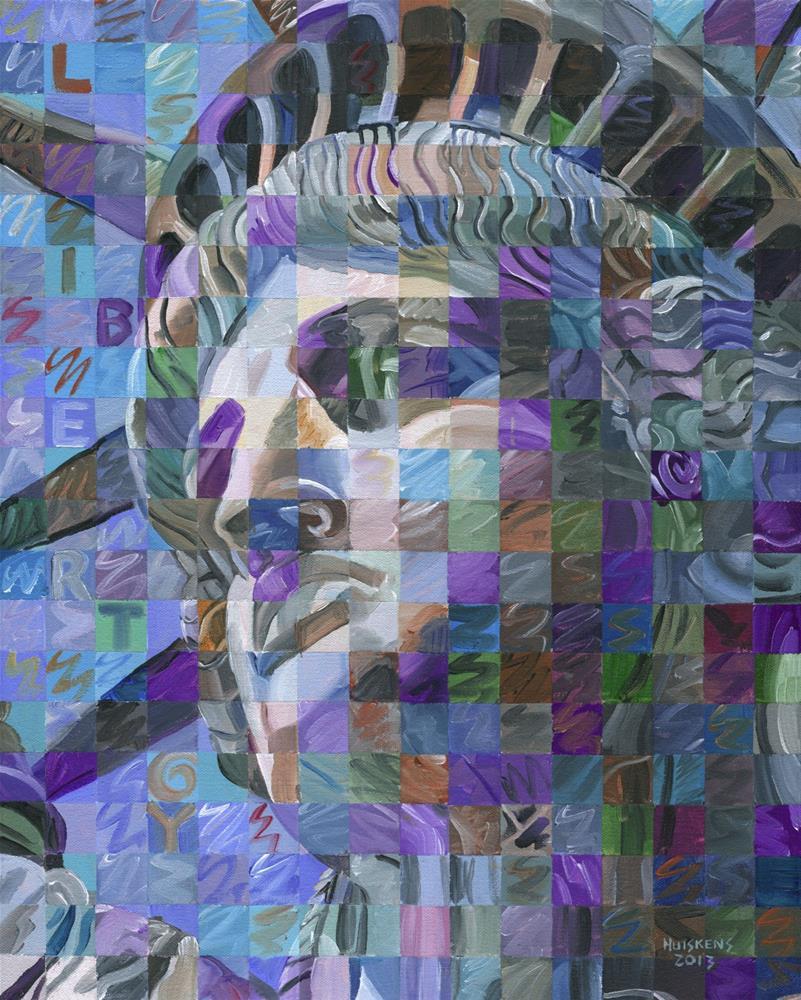 """Lady Liberty #2"" original fine art by Randal Huiskens"