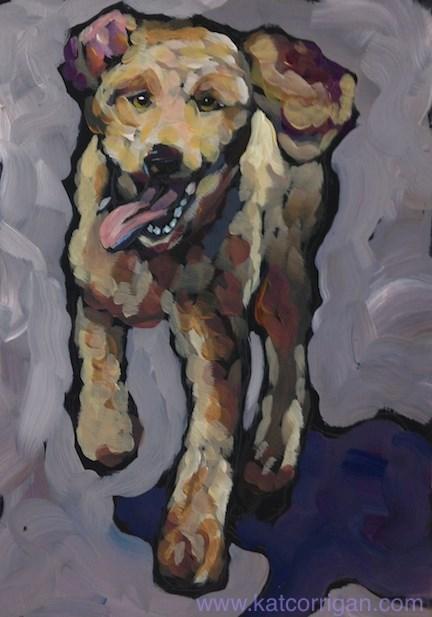 """Trixie July 14"" original fine art by Kat Corrigan"