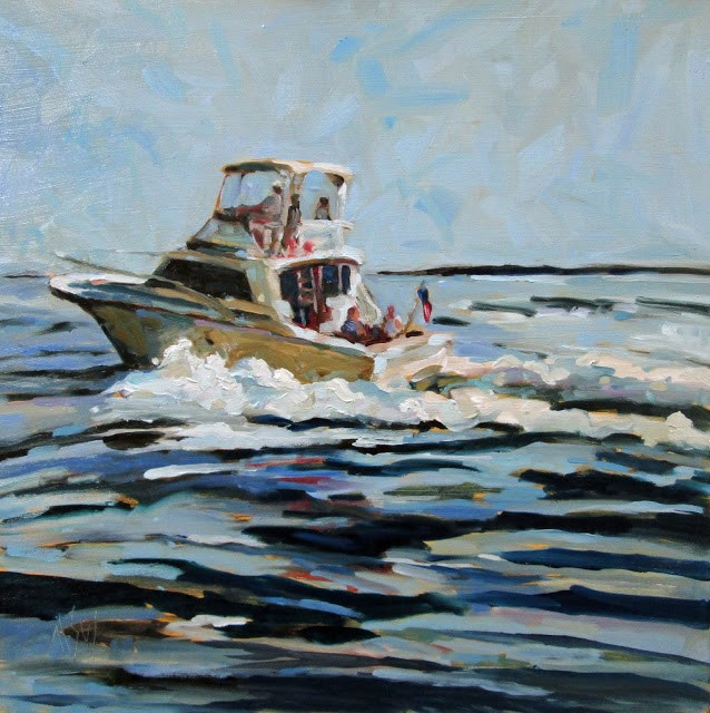 """Underway- Commission for a Christmas gift."" original fine art by Mary Sheehan Winn"