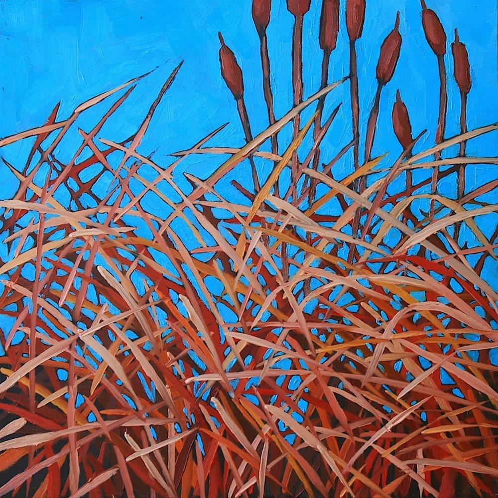 """""""Winter Cattails"""" original fine art by Mary Anne Cary"""