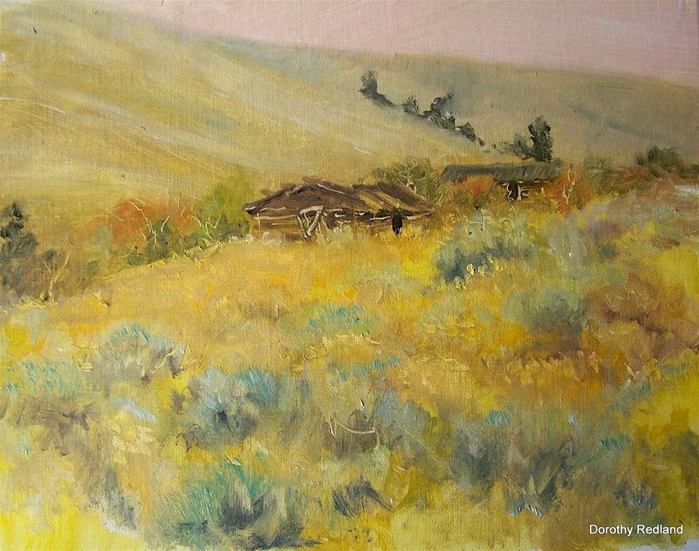 """Old cabin on Green Mountain"" original fine art by Dorothy Redland"