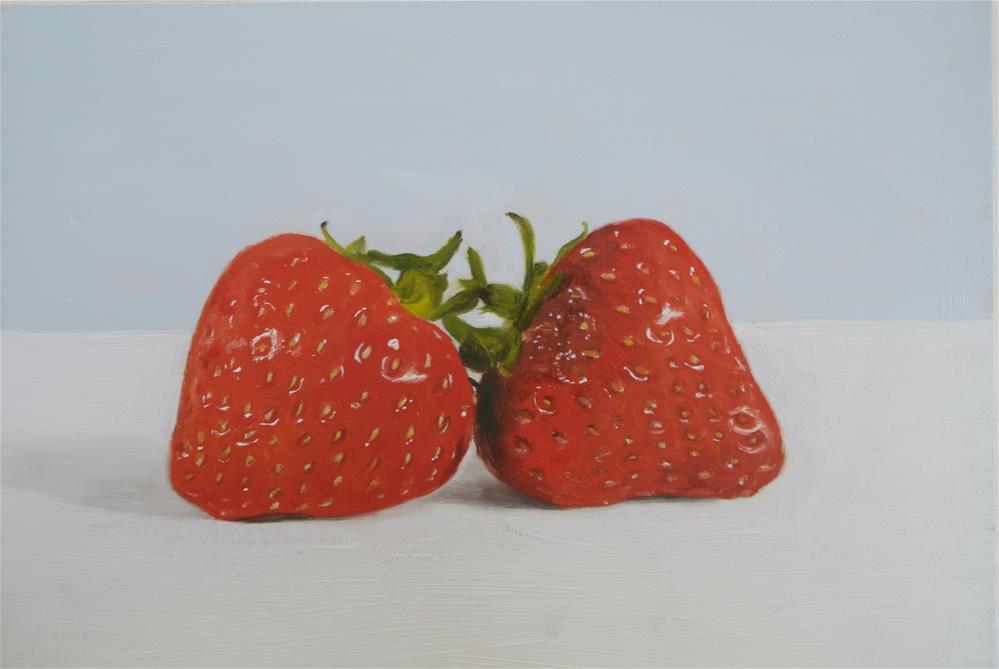 """Strawberry Love"" original fine art by James Coates"