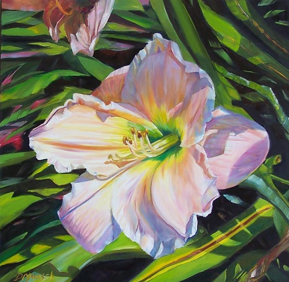 """One Giant Peach Lily"" original fine art by Donna Munsch"