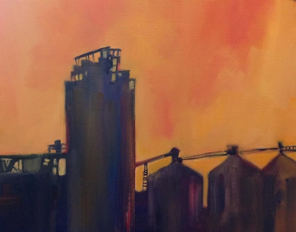 """""""Orange Sky"""" original fine art by Libby Anderson"""