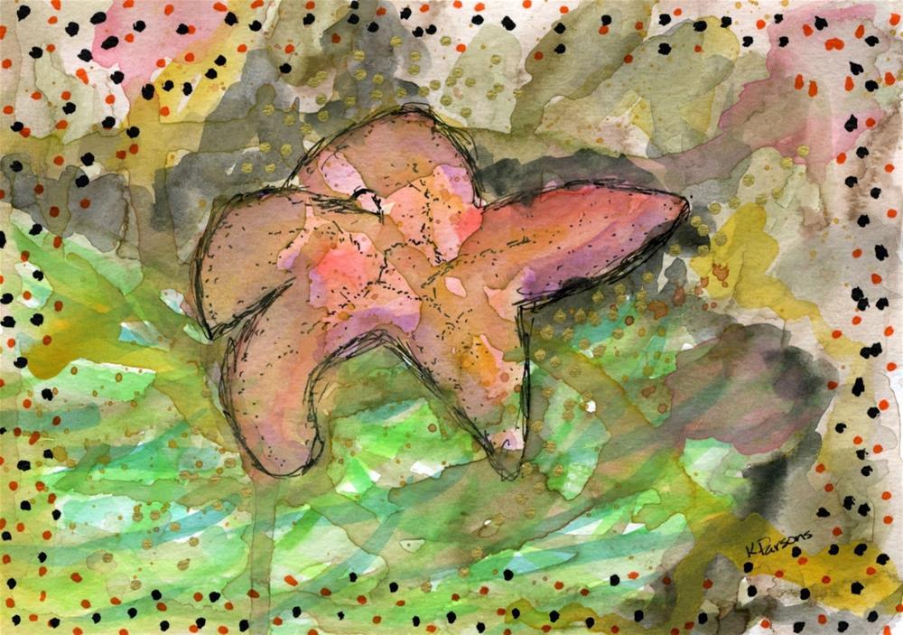 """Sea Star"" original fine art by Kali Parsons"