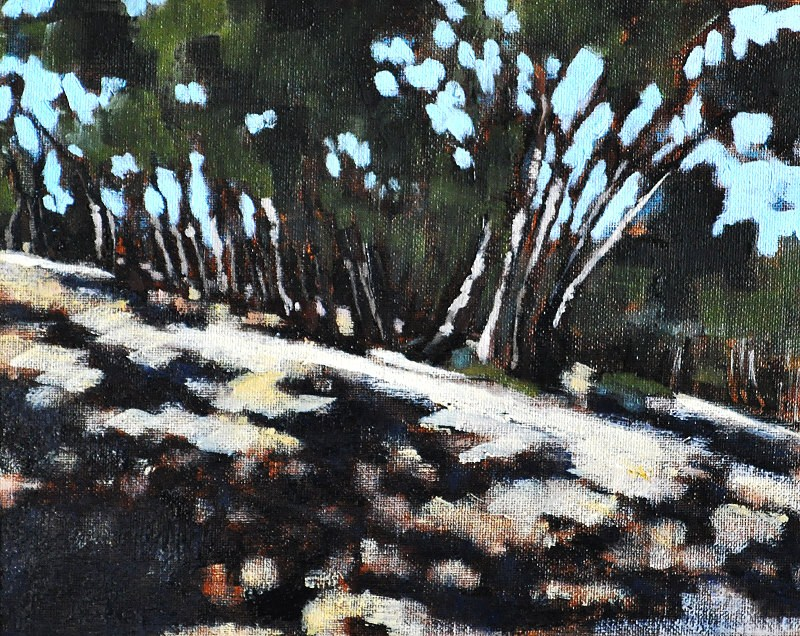 """""""Eucalyptus Forest Painting 2"""" original fine art by Kevin Inman"""