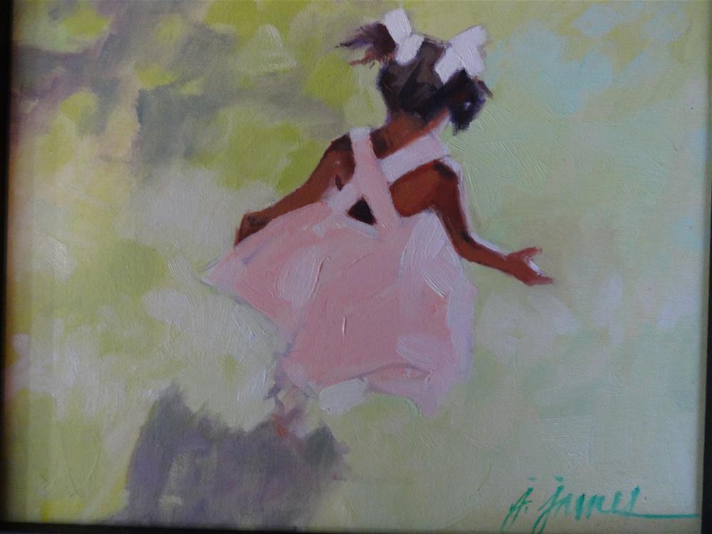 """Run, run, run"" original fine art by Jini James"