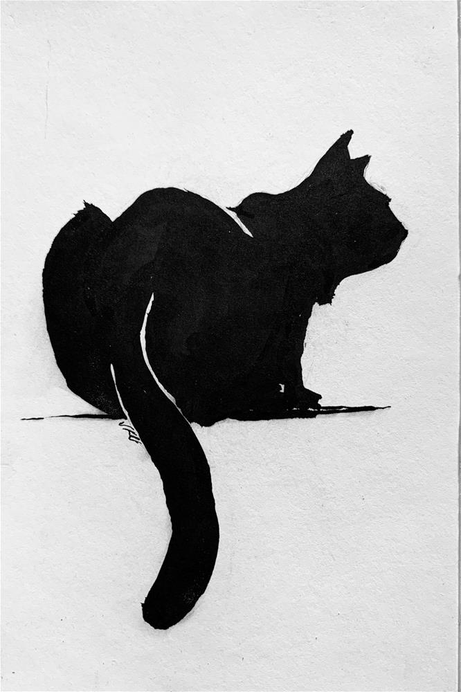 """Cat"" original fine art by Jean Krueger"