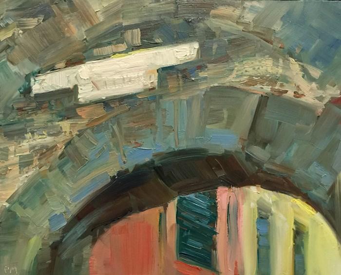 """""""Cinque Terre Colonia Avensis"""" original fine art by Patti McNutt"""