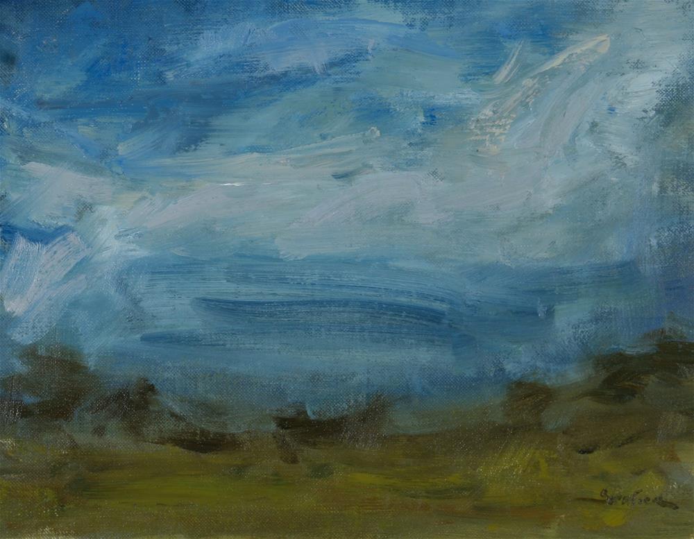 """South Texas Clouds 3"" original fine art by Scott Serafica"