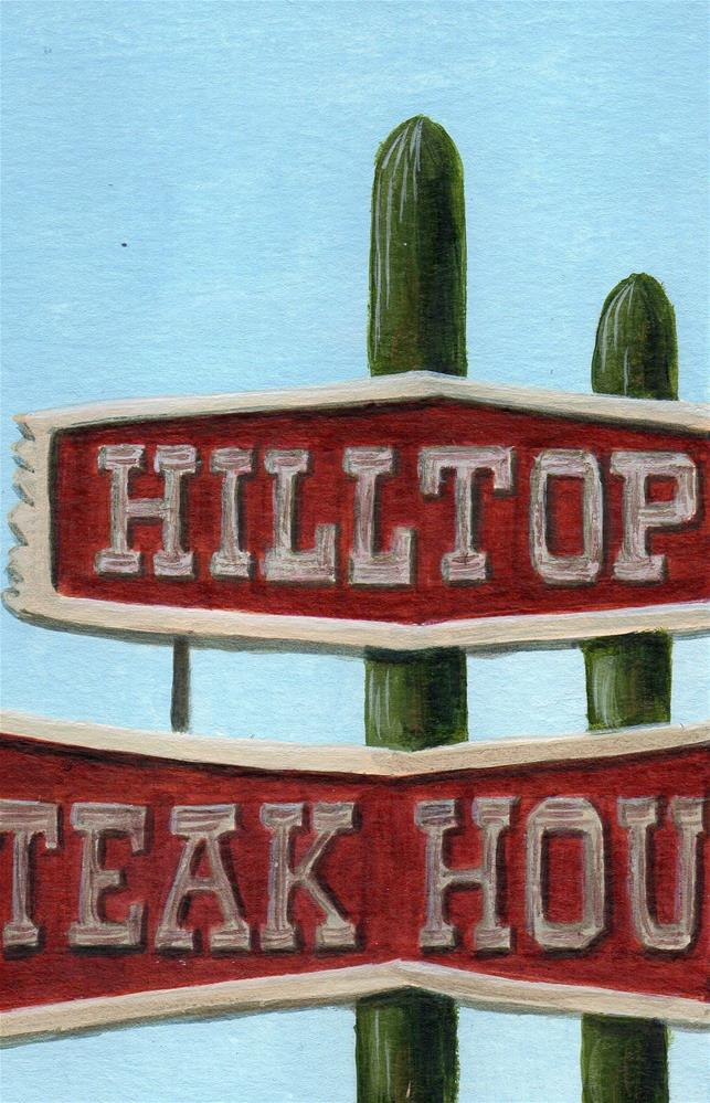 """Hilltop"" original fine art by Debbie Shirley"