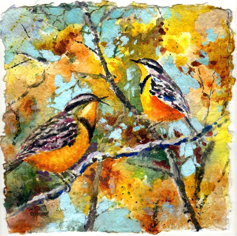 """Meadowlark Song"" original fine art by Melissa Gannon"