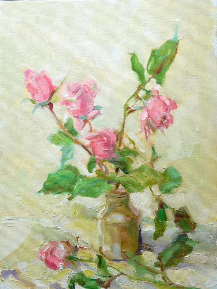 """Storm Survivors,still life,oil on canvas,12x9,price$300"" original fine art by Joy Olney"