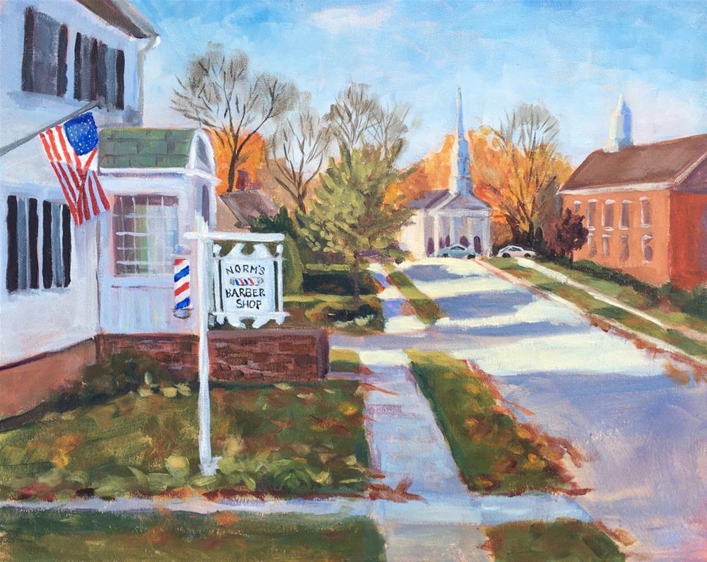 """A Cut Above the Rest- Cheshire CT"" original fine art by Linda Marino"