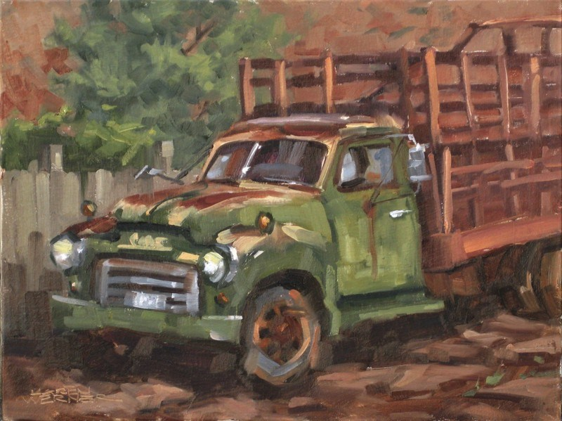 """Rusty Rest"" original fine art by Karen Werner"