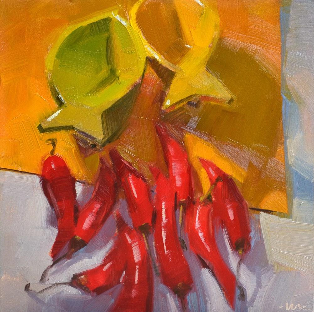 """In Hot Pursuit"" original fine art by Carol Marine"