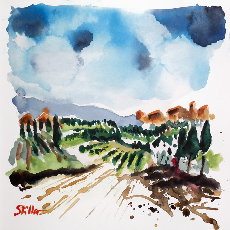 """2852 Watercolor Days III"" original fine art by Dietmar Stiller"